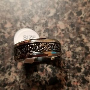 Jewelry - Mens Titanium Stainless Steel Wedding Band Size 10